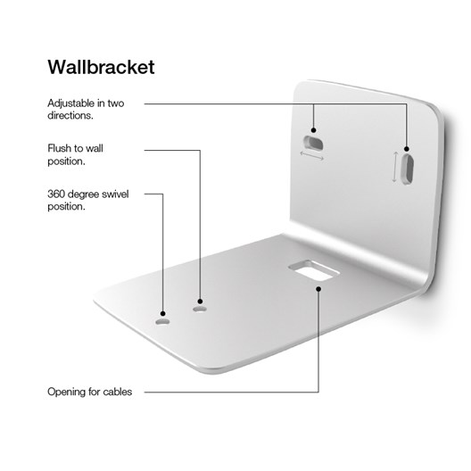 Dynaudio Xeo 2 Wall Bracket Aluminium Details