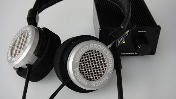 Grado PS500e kombiniert mit Kopfhörerverstärker