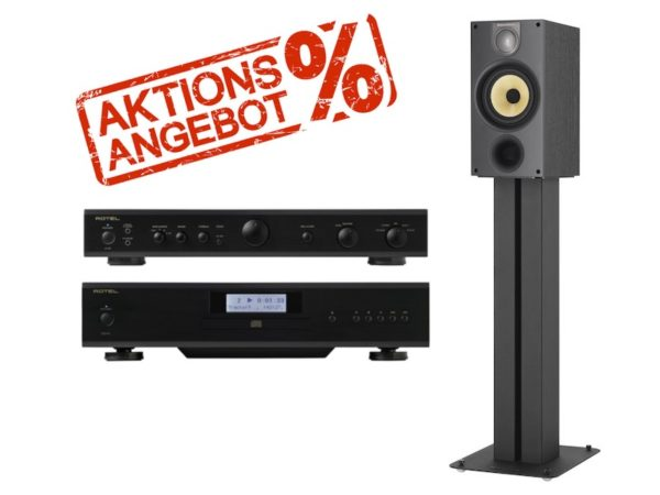 Bowers & Wilkins SOMMERAKTION: 686 S2 + Rotel A10 + CD14 Bundle