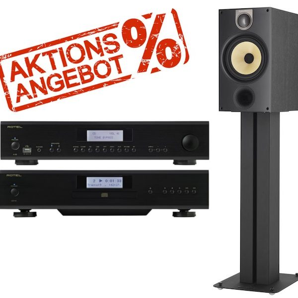 Bowers & Wilkins SOMMERAKTION: 685 S2 + Rotel A12 + CD14 Bundle