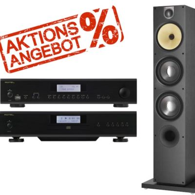 Bowers & Wilkins SOMMERAKTION: 683 S2 + Rotel A14 + CD14 Bundle