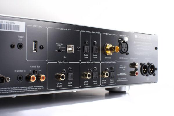 Cambridge Audio Azur 851D D/A-Wandler - silber (Anschlüsse)