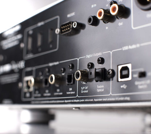 Cambridge Audio Azur 851N Netzwerkplayer - silber (Anschlüsse)