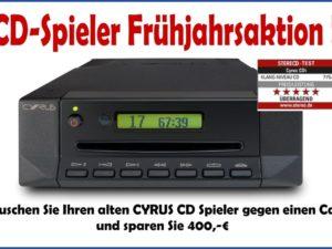 AKTION: CD Spieler Frühjahrsaktion von CYRUS