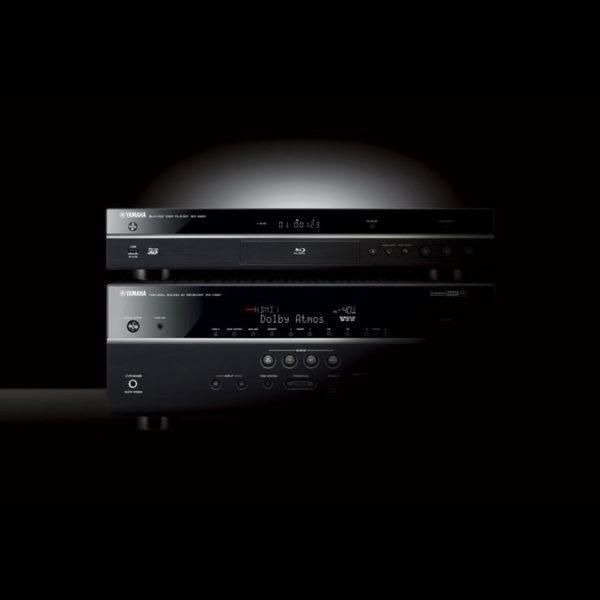 Yamaha BD-S681 (Blu-ray Player) - Beispielabbildung mit AV-Receiver