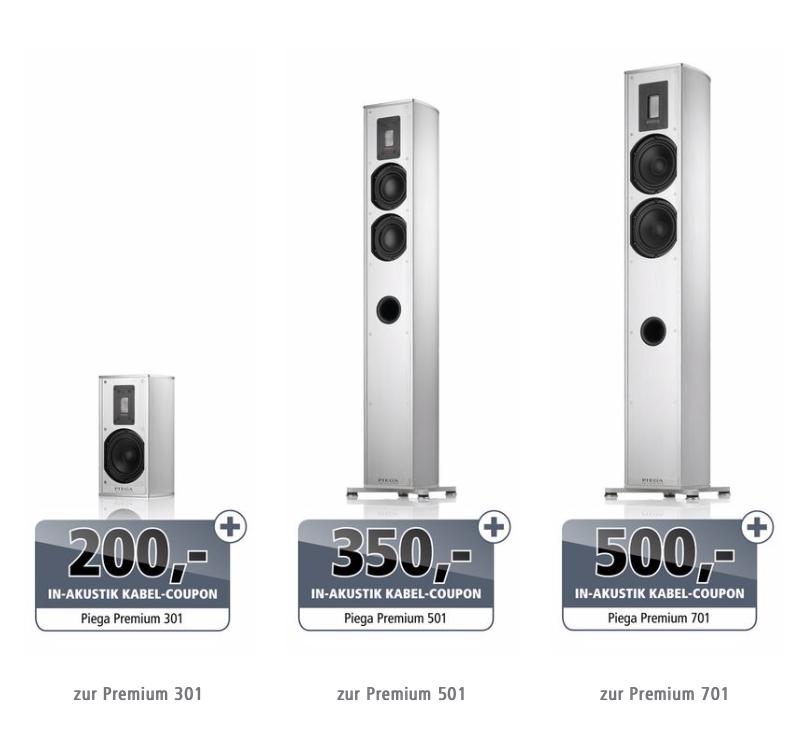 In-Akustik Kabelcoupon für Piega Lautsprecher (Screen)
