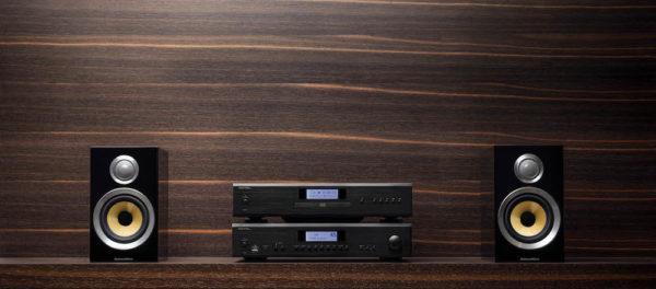 ROTEL CD14 - CD-Player (schwarz, Beispielabbildung mit ROTEL A14 und Bowers & Wilkins CM1)