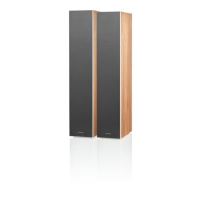 Bowers & Wilkins - 603 Anniversary Edition Standlautsprecher, Eiche mit Bespannung in Grau
